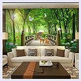 BHXINGMU Benutzerdefinierte Größe 3D-Wandbilder Tapeten Wohnzimmer Schlafzimmer Sofa Tv Hintergrund Tapete Wolf Totem Tier Foto Wallpaper 220 Cm (H) X 280 Cm (W)