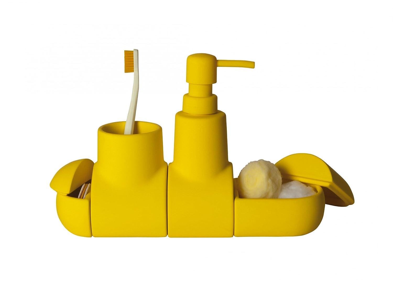 Seletti   sousmarin jaune   set d'accessoires de salle de bain ...
