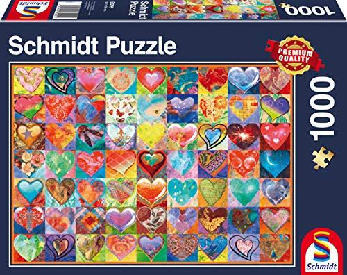 Schmidt Spiele 58295 58295-Herz an Herz, 1.000 Teile Puzzle, bunt
