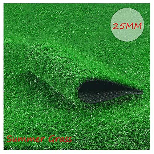 Artificial Lawn XIAODONG Kunstrasen Teppich Üppige Rasen Dekoration Sommergras-Kunstrasen Wasserdicht Verschlüsselter Rasen Haustierhaus/Balkon (2 * 1 M) (Size : 2 * 5m)