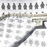 greenluup kids Babydecke Mullwindeln Spucktücher Stoffwindel120 x 120 Bio Baumwolle GOTS (Pinguin)
