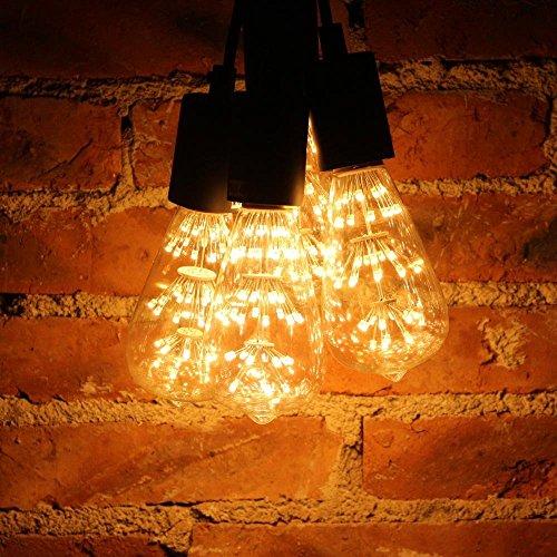 KINGSO E27 ST64 LED Stern Edison Glühbirne 3W 47led Dekorative Vintage Glühlampe Kronleuchter Deko Birne Ideal für Nostalgie und Retro Beleuchtung 220V mit Zertifikat Warmweiß - 5