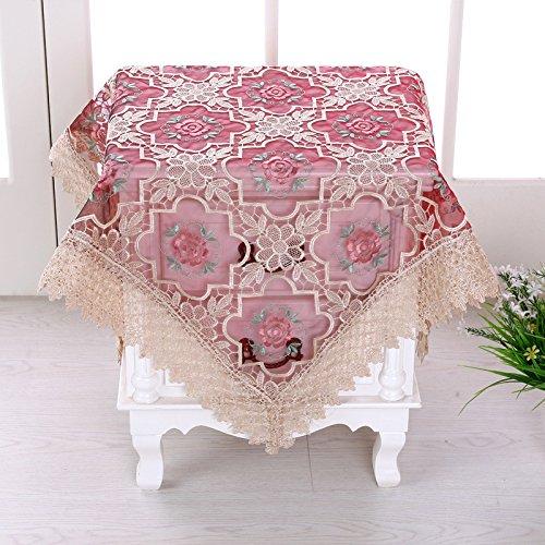 X&L Vetro filato ricamo tovaglia tovaglia comodino coperchio copertura multi-uso asciugamano applicabile albergo partito casa picnic banchetto , A , 95*95 cm
