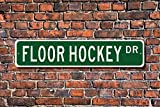 Aersing Schlafzimmer Boden Hockey Schild Floor Hockey Fan Player Floor Hockey Geschenk Floorball Metall Tür Deko Schild