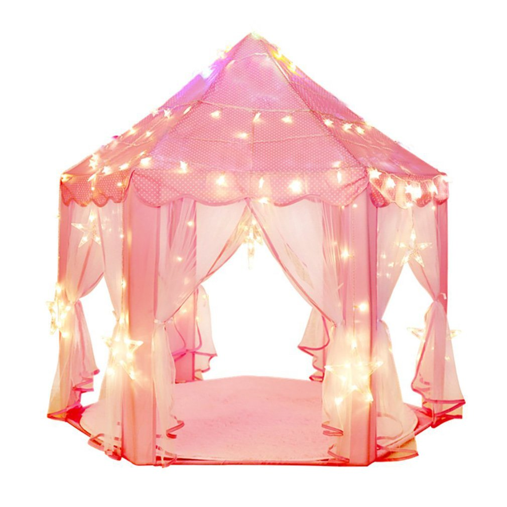 indoor and outdoor hexagon fairy princess castle play tent playhouse tents as g ebay. Black Bedroom Furniture Sets. Home Design Ideas