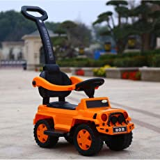 GoodLuck Baybee Kids Power Wheel Ride On Jeep Push Car for Toddlers Baby Jeep Toy Children Rider & Infant Baby Jeep Toys | Kids Suitable for Boys & Girls(1-3 Years) (Orange)