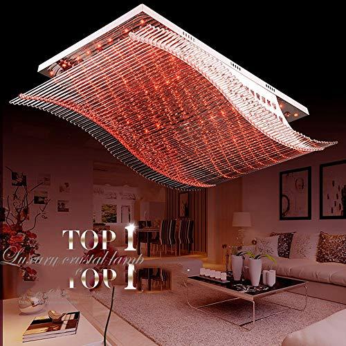 OOFAY LIGHT LED Deckenleuchte, 4 Farbe Dimmbar mit Fernbedienung, Weiss Rot Blau Violett Licht, Kristall Lampe, Wohnzimmer Schlafzimmer Wohnung Beleuchtung, Deckenlampe, Modern Atmosphäre Elega -