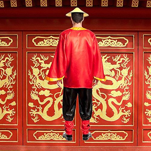 Kostümplanet® Chinesen-Kostüm Herren Chinese China Faschingskostüm Größe 52/54 -