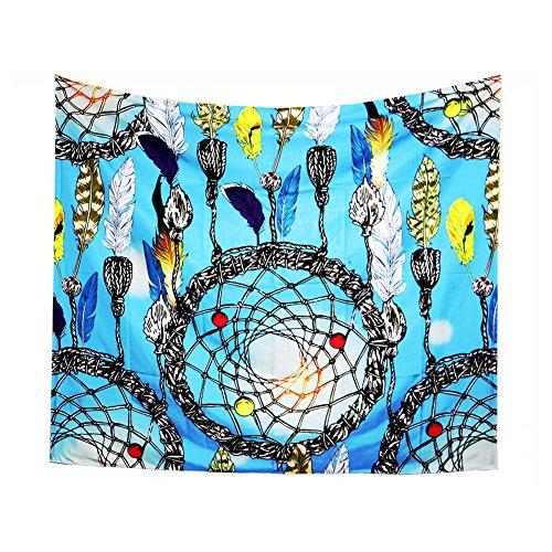 Wonque tapiz exquisito atrapasueños patrón para colgar en la pared manta suave chal dormitorio decoración playa toalla camino de mesa para decoración del hogar 1 pieza
