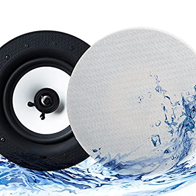 Echo Dot Compatible IP44 Bathroom Bluetooth Ceiling Speaker - Lithe Audio from LITHE AUDIO