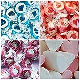 Candybar zu Hochzeit Taufe Kommunion 2,5kg mit den beliebtesten Süßigkeiten - Herzbonbons in Erdbeere und Himbeere - Marshmallows - Alles in Herzform und Top-Qualität (Candybar 2,5kg)