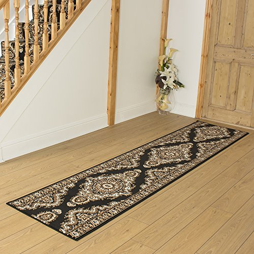 Turkesh Black - Long Hall & Stair Carpet Runner