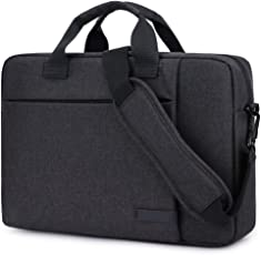 LXOICE Office Laptop Bags Briefcase 15.6 Inch for Women and Men (Black)