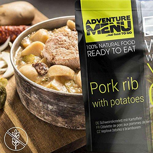 Adventure Menu Schweinskotelett mit gekochten Kartoffeln
