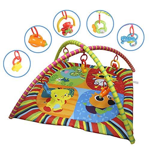 Speed Baby-Musical Mat Kids Mat Teppiche Spiel Tapete Wiege Teir Bogen Aktivitäten-Tagesdecke Decke Erfahrung Set 85x 85x 56cm (Teppich-reinigungs-stäbe)