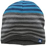 adidas Stripy Bonnet Mixte Enfant, Dark Grey Heather/Blue Night/White, FR : Taille Unique (Taille Fabricant : OSFY)