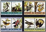 Francobolli Uccelli menta set di 8 diversi francobolli MNH a coppie se-tenant con diverse altre specie di uccelli - St. Vincent / 1985/8 francobolli - Stampbank - amazon.it