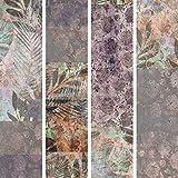 murando Carta da parati adesiva PURO 10 m senza ripetere il motivo Concrete Stickers Fotomurali adesivi Carta da parati autoadesiva Fotomurale Stickers da muro Concrete Foglie Monstera f-A-0704-j-a