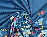 Aitos Femmes Robe été de Plage Sans Manches Cou Ronde A-ligne Imprimé Robe Casual Bleu XL - 5