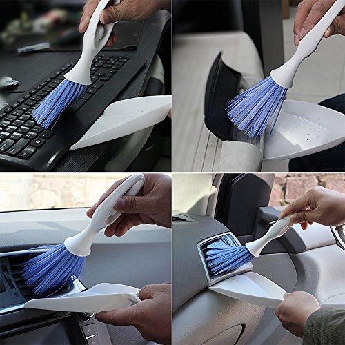 Syeytx Mini-Armaturenbrett-Entlüftungsreiniger-Werkzeug Tastatur & Luftauslass Armlehne Kleiner Besen Bürstenschaufel