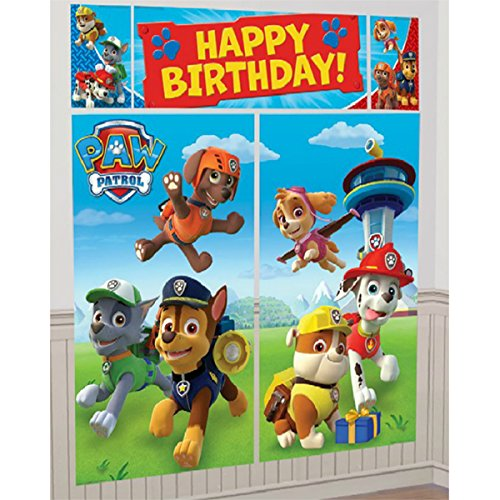 Paw Patrol Scene Setters Wall Banner Decorating Kit Birthday Party Supplies by Nickelodeon by Nickelodeon