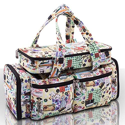 Tasche für Strickzubehör, Retro-Design (Tasche Roo)