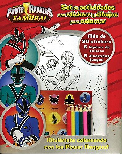 Sabans Power Ranger Samurai - Diveirtete Coloreando. Set De Actividades Con Stickers