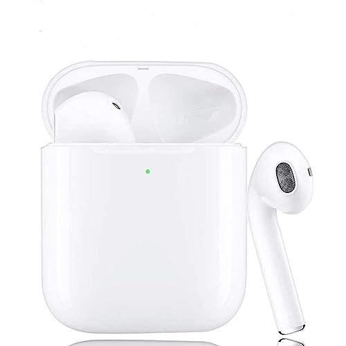 2020 Nuovo Auricolari Bluetooth 5.0 Senza Fili Cuffie Bluetooth con Microfono Stereo Audio per IOS Android PC, Supporto Siri/Ricarica Wireless (Bianco-7)