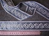 Gardinen Borte blau weiß Spitze 5cm hoch Meterware