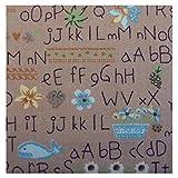 Unique Boutique - Rosa buntes Stofftaschentuch Alphabet ABC Stofftuch Kinder