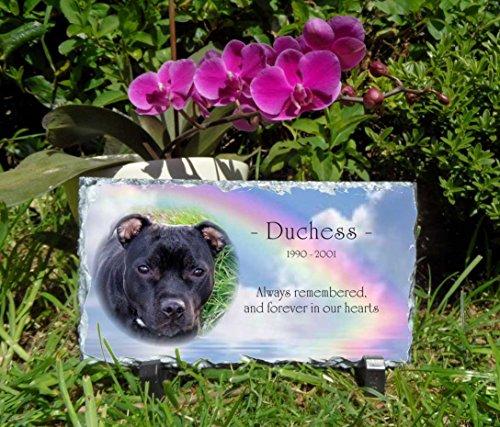Gedenktafel für Haustiere Slate Plaque personalisierbar lang eckig 1