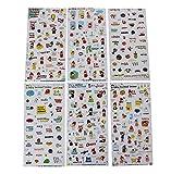 DIY Handbook Stickers Nette Aufkleber Aufkleber-Set von 6 / frech