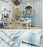 Blau Streifen Muster, Vinyl Kontakt Papier selbst mit Lösungsmittel Regalen schälen und Stick Tapete für Kinder Kinderzimmer Schlafzimmer Wand Deal 60,5cm von 16Füße
