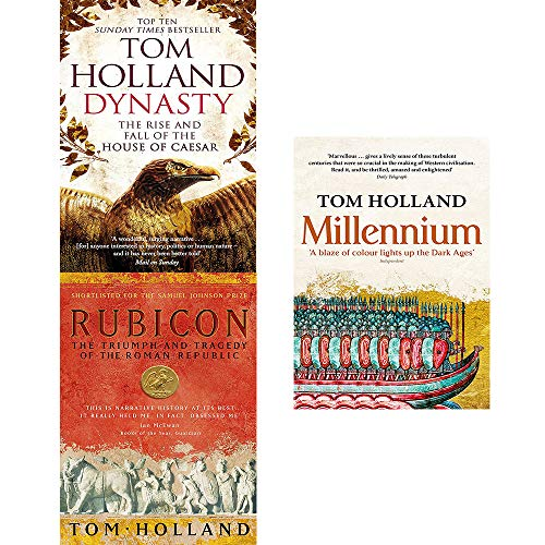 Price comparison product image Tom holland 3 books collection set (rubicon, dynasty, millennium)