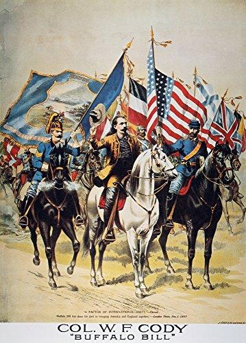 Buffalo Bill: Poster 1893. /Nbuffalo Bill Wild West Show Lithograph Poster C1893. Kunstdruck (45,72 x 60,96 cm) (Bills West Buffalo Wild)