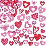 Aufkleber aus Schaumstoff in Herzform für Kinder zum Verzieren von Karten und Bastelprojekten ideal zum Valentinstag und Muttertag - 130 Stück