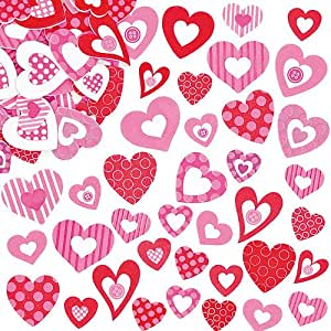 Lot de 130 Autocollants Mousse en forme de Coeur - Idéal pour la St Valentin ou la Fête des Mères