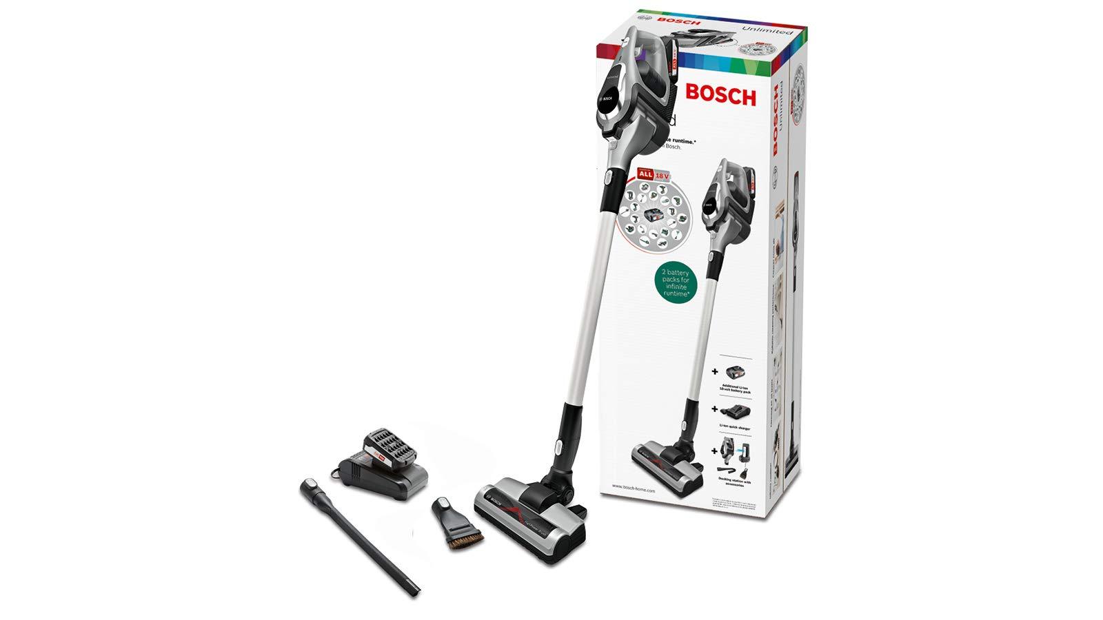 Bosch Unlimited Serie I 8 Staubsauger ohne Kabel 2 Batterien - Keine Ladung vom Dock Graphit (Serie 8)