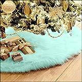 Yogogo Jupe Arbre De NoëL 78cm Christmas Tree Skirt White Neige Couvre Pied Sapin Noel Jupe d'arbre De NoëL pour DéCorations De NoëL Vacances