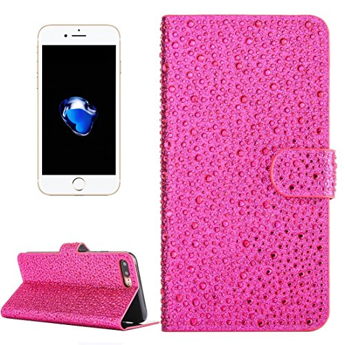 Hülle für iPhone 7 plus , Schutzhülle Für iPhone 7 Plus Raindrops Pattern Horizontale Flip Leder Tasche mit Halter & Card Slots ,hülle für iPhone 7 plus , case for iphone 7 plus ( Color : Pink ) Magenta