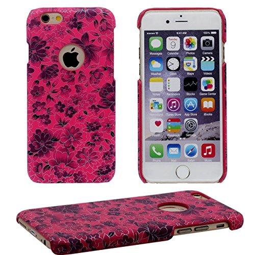 iPhone 6S Coque, Beau Fleur Peinture Série Coloré Élégant Style Mince Poids Léger Dur Housse de Protection Case pour Apple iPhone 6 / 6S 4.7 inch rouge