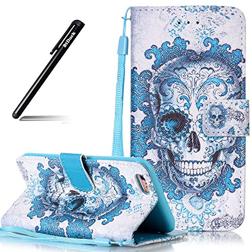 Custodia per iPhone 6 Plus/iPhone 6S Plus 5.5,BtDuck Libro Stand Case Cover in PU pelle Borsa e Portafoglio Tasca Ultra Sottile Morbido Silicon Gel Back Case Bumper Cover Custodia in Premium PU Pelle  #8