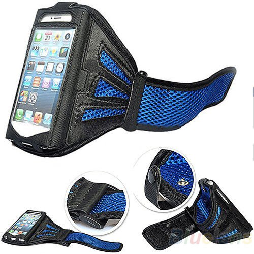 Excellent Style Premier Blue Sports Running Jogging Gym Armband Arm Band Case Cover Holder for iPhone 5 5S 5G 5C (Arm-bänder Für Iphone 5s)