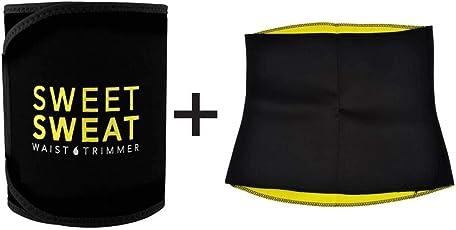 SWEET SWEAT WAIST TRIMMER Hot Waist Shaper Belt Instant Slim Look Belt for Men and Women Pack of 2-XXL