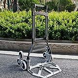 HYLH Chariot Utilitaire De Laminage Pliant en Acier LéGer De Chariot à Escalier De Chariot Tout Le Terrain Grande Capacité 80kg