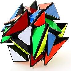 AdiChai Multi Coloured Stickered Ghost Cube - Speed Magic Cube 3 X 3 , 3x3 , 3 by 3 Cube