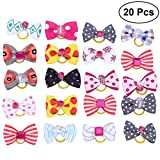 #5: 20pcs Pet Dog Cat Hair Bows with Rubber Bands Hair Accessories