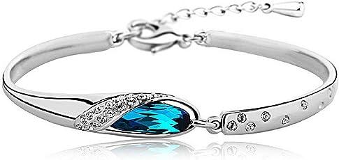 Shining Diva Stylish Platinum Plated Austrian Crystal Bracelets for Girls