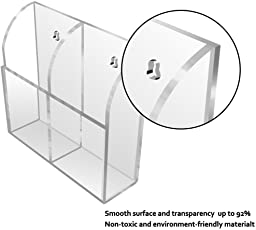 Masarrat Acrylic Remote Holder, Remote Stand, Remote Holder, Remote Display Stand, Acrylic Remote Holder, Wall Mounted Acrylic Remote Holder