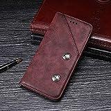 GHC Hüllen, elefone a5, echtes Qualitätsgeschäft Retro Stil flip pu Leder Brieftasche case (Farbe : Rot)